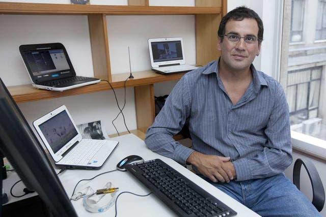 Javier Castrillo, responsable del proyecto Huayra para las netbooks de Conectar Igualdad