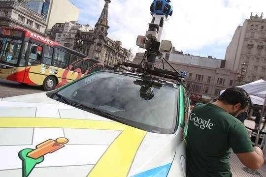 La cámara del techo toma imágenes en todas las direcciones. Foto: EFE