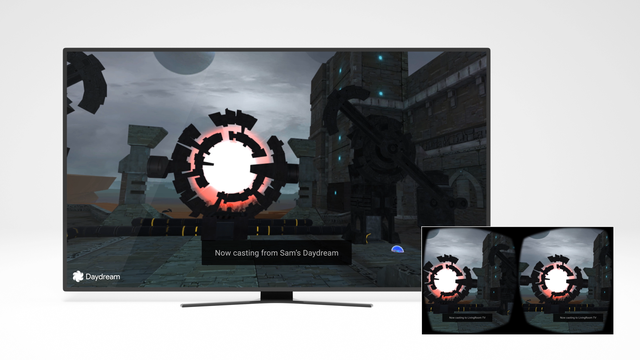 Daydream permitirá compartir una sesión de realidad virtual en una pantalla grande