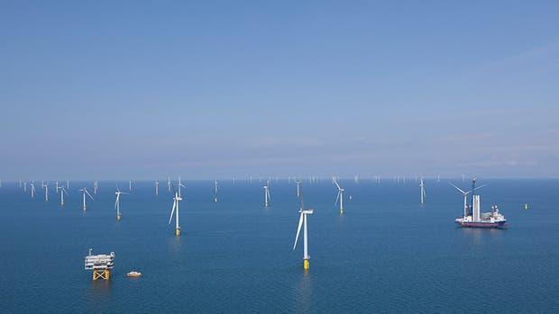 El parque eólico marino de East Anglia One