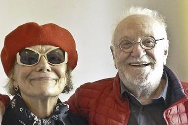 Pepe Soriano, con Marilú Marini, en el rodaje de Nocturna