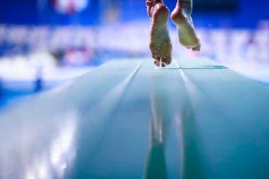 Luciana Gil de Peru por saltar en un entrenamiento