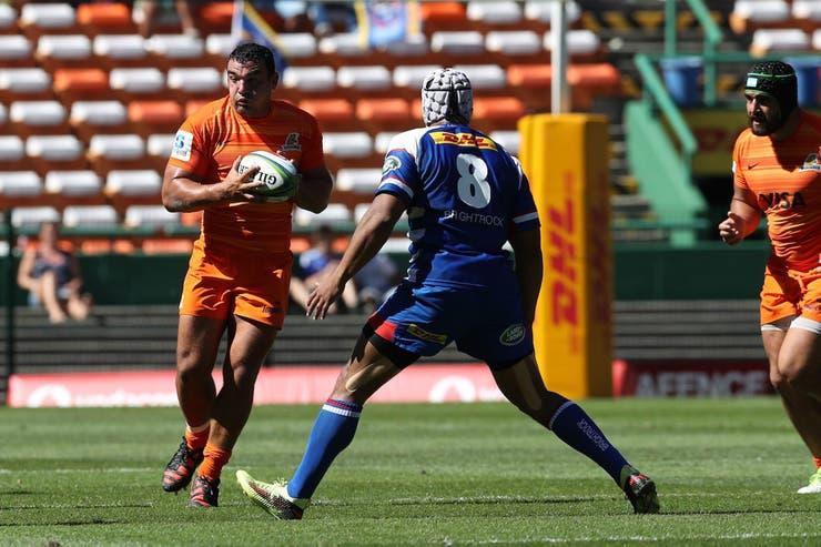 Creevy en acción; los Jaguares no pudieron con Stormers, a quién nunca le ganaron en las tres ediciones que disputaron en el Super Rugby