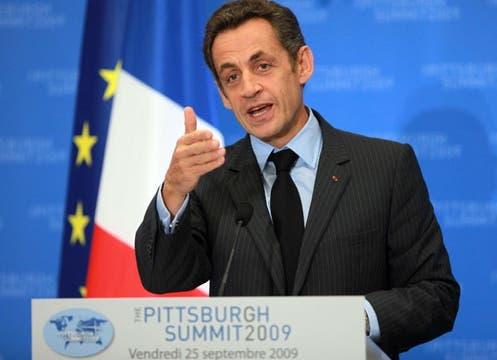 El discurso del presidente de Francia, Nicolás Sarkozy.. Foto: EFE
