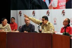 El presidente de Venezuela, Nicolás Maduro, ayer en la Universidad Bolivariana de Trabajadores