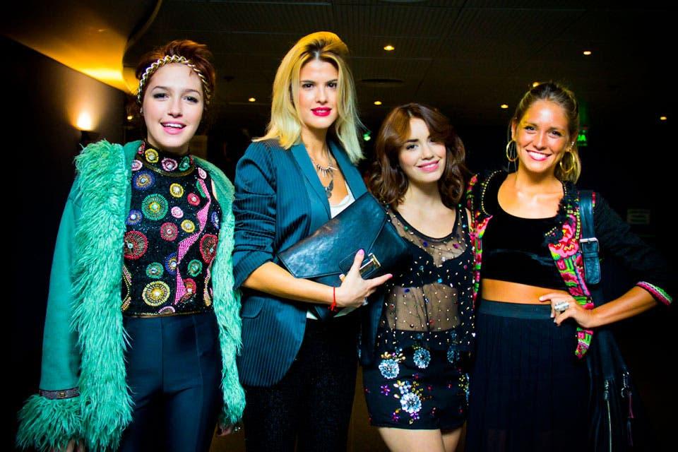 Cande Vetrano y María del Cerro asistieron al estreno de la película Teen Angels, el adiós, para acompañar a sus amigas, Lali Espósito y Rochi Igarzábal.