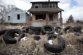 En el este de la ciudad, un barrio abandonado