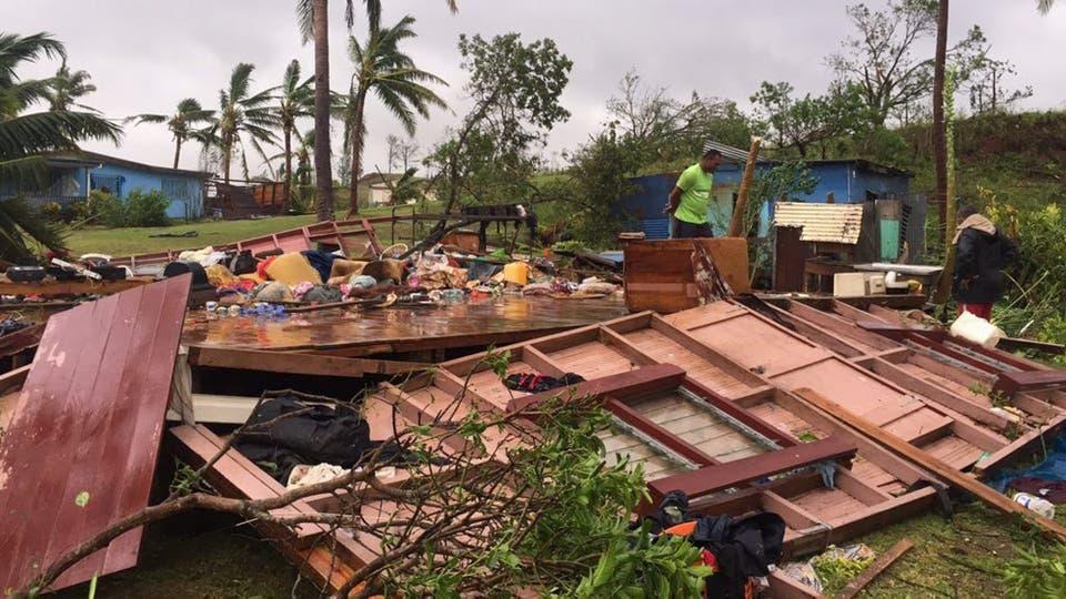 Winston fue el ciclón más fuerte jamás registrado en las islas Fiji, que en la noche del sábado al domingo azotó el archipiélago con vientos de más de 300 kilómetros por hora. Foto: EFE