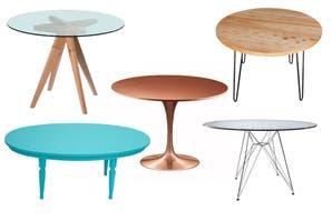 Mesas redondas: 10 modelos para equipar tu comedor