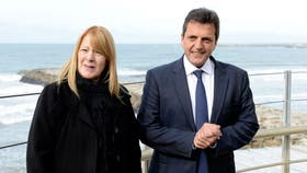 Stolbizer junto a Massa, juntos en Mar del Plata