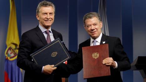 Mauricio Macri y Juan Manuel Santos