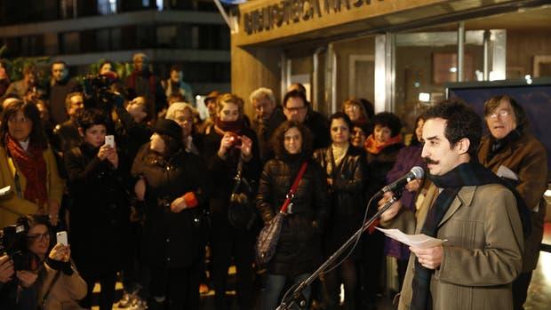 Katchadjian en un acto de apoyo a su libro en 2015