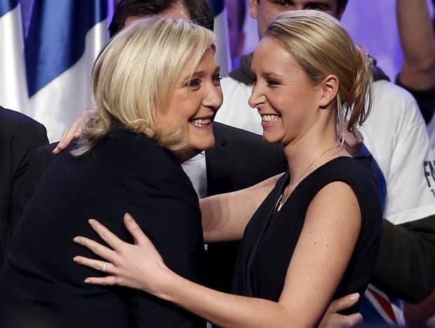 Marine y Marion Le Pen, durante un acto del Frente Nacional en 2015