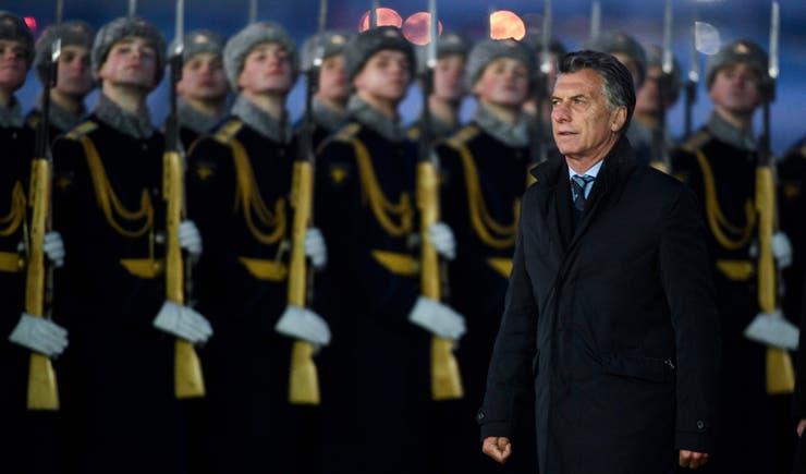 Macri llegó a Moscú, primer destino de su gira europea
