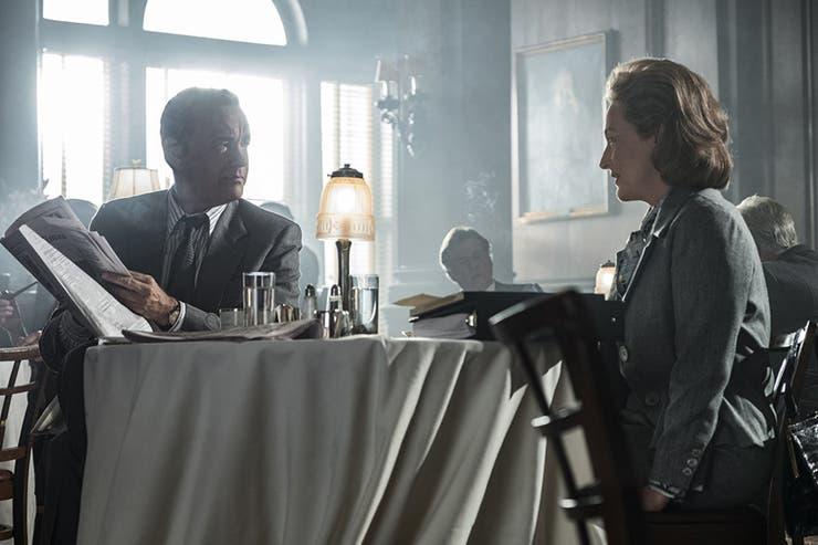 Meryl Streep y Tom Hanks en The Post, que llega el jueves a las salas locales tras haber sido nominada al Oscar a mejor película