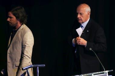 Nicolás del Caño y Roberto Lavagna