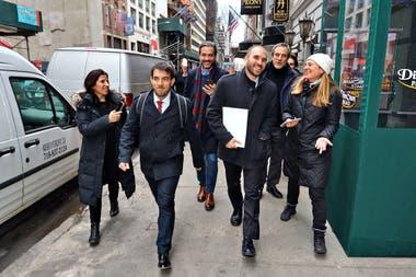 Guzmán en Nueva York, donde se fue de gira a fines de enero y fortaleció la propuesta de una posición más agresiva para negociar la deuda