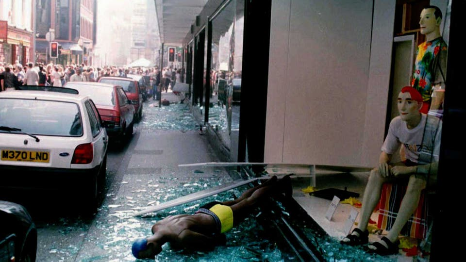 Un atentado del IRA sacudió el centro de Manchester en 1996. Foto: Archivo