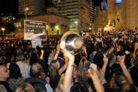El 13 de septiembre, las cacerolas volvieron a sonar en la ciudad de Buenos Aires