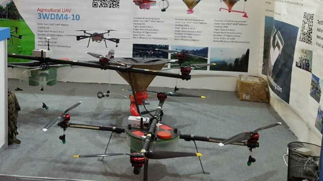 Drones aplicadores de productos granulados o agroquímicos