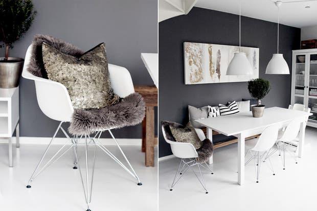 Las sillas modelo DSW de los diseñadores Charles & Ray Eames son un clásico en los comedores nórdicos.  /Cecilieslykke