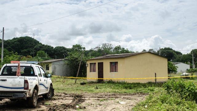 La casa donde habría sucedido el doble crimen