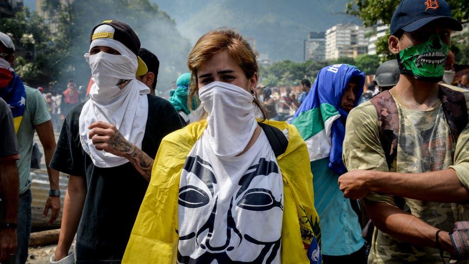 Los manifestantes marcharon por el centro de Cararacas. Foto: AFP / Federico Parra