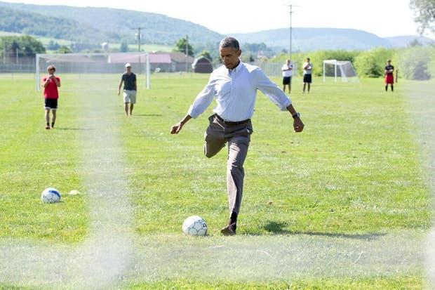 Obama demuestra que también tiene ''pegada''