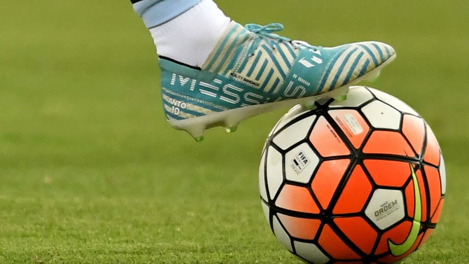 El botin de los tres goles. Foto: AFP