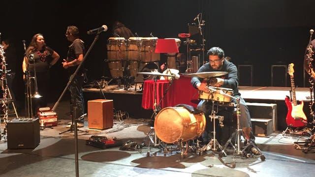 La banda ensayando . Foto: LA NACION