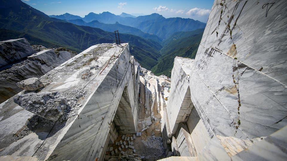 La cantera de mármol de Cervaiole en Monte Altissimo
