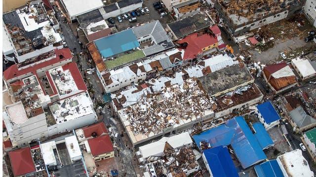 Viviendas totalmente destruídas en Saint Martin