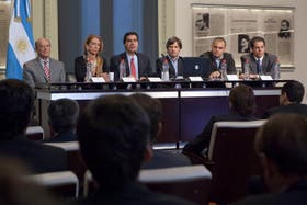 El gabinete de Cristina en el anuncio del acuerdo de precios