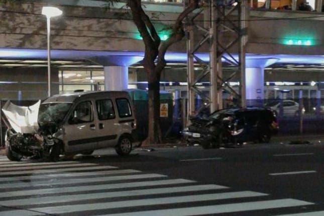 Grave choque frente al Aeroparque: tres heridos