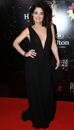 Verónica Varano, con un escote muy sexy. Foto: Gerardo Viercovich
