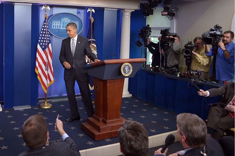 Obama se retiró con un sabor amargo del encuentro con la prensa