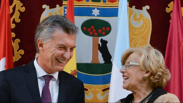 Mauricio Macri recibió la Llave de Oro de la Villa de Madrid