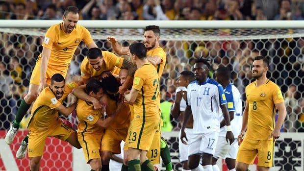 Australia celebró ante Honduras