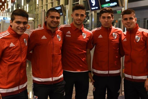 Olivera, Morán, Sibille, Montiel y Andrade, antes de viajar a Estados Unidos