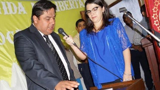 Alejandro Maurín, al jurar como concejal