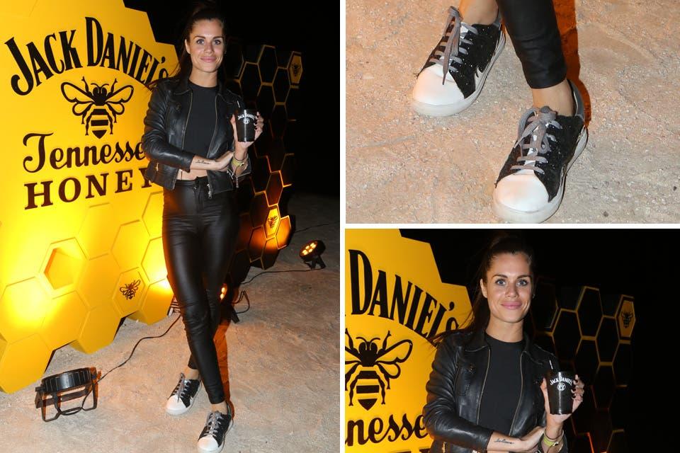 Flor Ventura a puro rock en el after de Jack Daniels Honey en Pinamar. Foto: OHLALÁ! /Gentileza Prensa