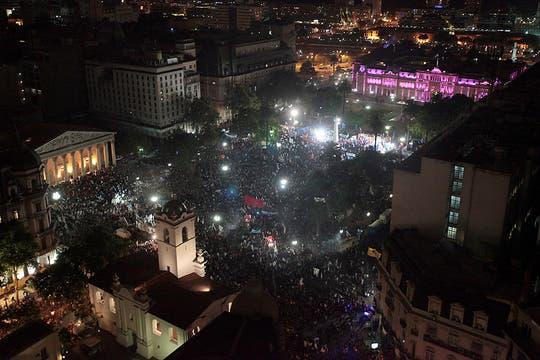 La Presidenta celebró su reelección. Foto: LA NACION / Jorge Bosch