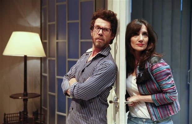 Peto Menahem y Jorgelina Aruzzi ya habían trabajado juntos en la exitosa comedia Le prenom