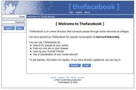 La red social creada por Mark Zuckerberg en sus inicios en 2004, cuya dirección web era thefacebook.com