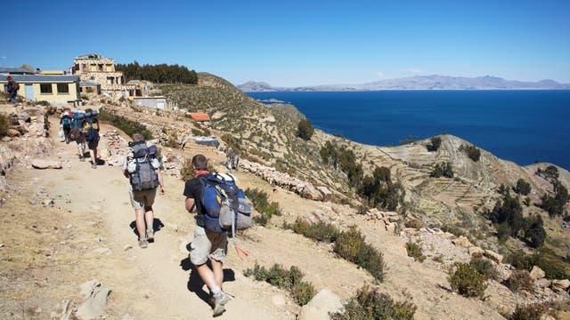 La Isla del Sol, en el lago Titicaca