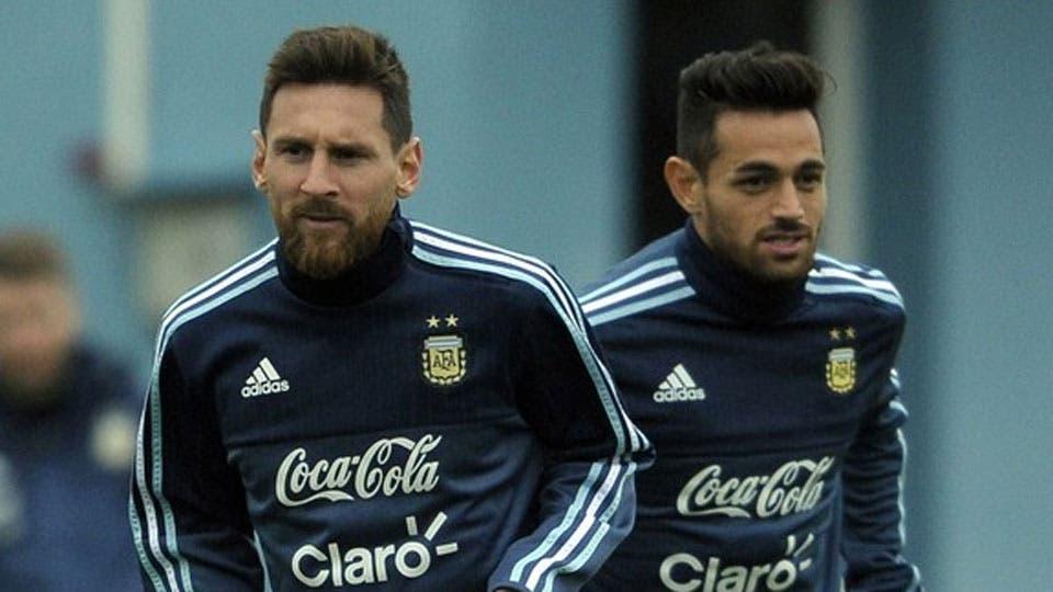 Messi y Acosta, juntos en la selección