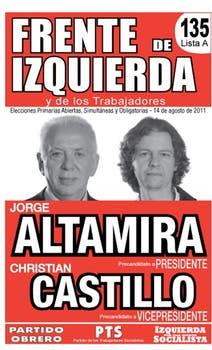 Los candidatos de la izquierda, con estética de afiche callejero.