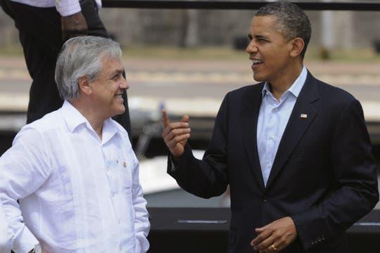 Sebastián Piñera y Barack Obama. Foto: EFE