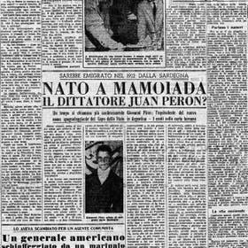 Un diario sardo de 1951 explica el supuesto origen del presidente argentino