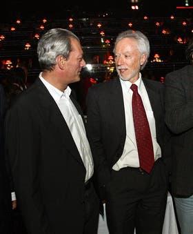Coetzee y Auster, en una de sus escasas fotografías juntos, durante la inauguración, en 2008, del Festival de Cine de Estoril, en Portugal.